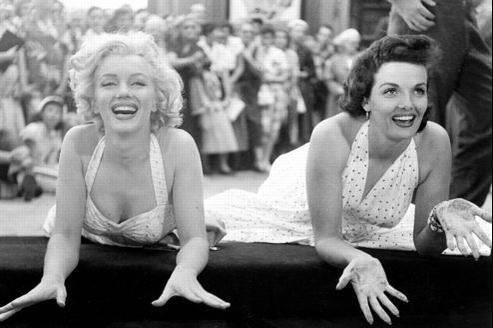 Marilyn Monroe et Jane Russell, le 26 juin 1953.