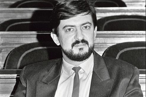 Jean-Luc Mélenchon, le 2 octobre 1986 au Sénat.