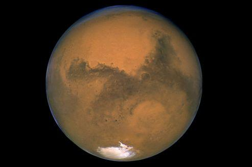 La planète Mars photographiée par le téléscope spatial Hubble.