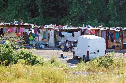 Un campement à proximité de Clamart, en banlieue parisienne, la semaine dernière.