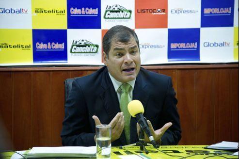 Le président socialiste de l'Équateur Rafael Correa