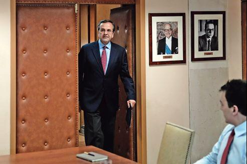 Le premier ministre grec, Antonis Samaras, à Athènes, le 8 août dernier.