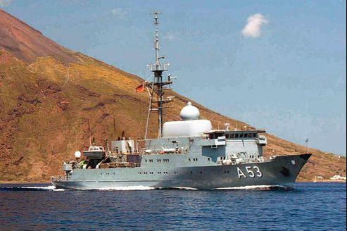 Le navire se trouve pour le moment dans l'est de la Méditerranée, dans le port de Cagliari, en Sardaigne.