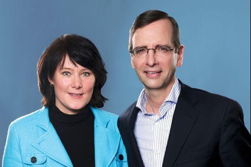 Anke Schäferkordt et Guillaume de Posch, coprésidents de RTL Group.