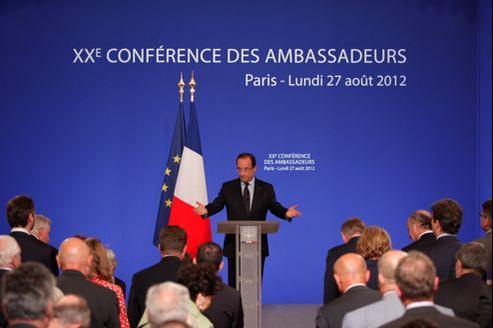 François Hollande lors de la Xe Conférence des ambassadeurs à l'Élysée, lundi.