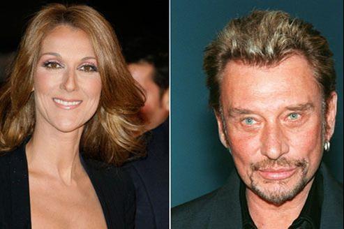 Johnny Hallyday en duo avec Céline Dion