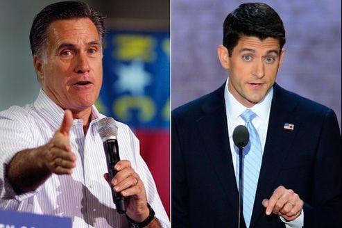 Le candidat désigné à la Maison-Blanche Mit Romney (gauche) et son colistier Paul Ryan (à droite) ne partagent pas les mêmes goûts musicaux. Crédits photo: ABACA.