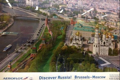 La publicité est diffusée dans le métro bruxellois. Capture d'écran par le blog Reuninting Europe.