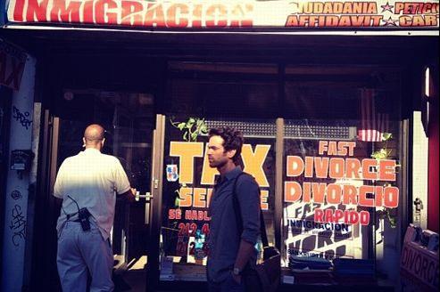 Romain Duris à New York, sur le tournage de Casse-tête chinois de Cédric Klapisch, la suite de L'Auberge espagnole et Les Poupées russes. (Crédits: Cédric Klapisch)