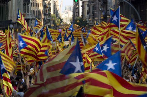 Près d'un million et demi de manifestants ont défilé mardi soir dans les rues de Barcelone