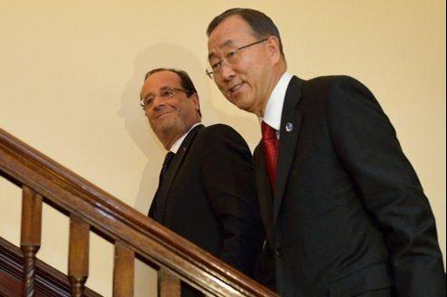 Le président de la République a été reçu par le secrétaire général de l'ONU, Ban Ki-moon, lundi.