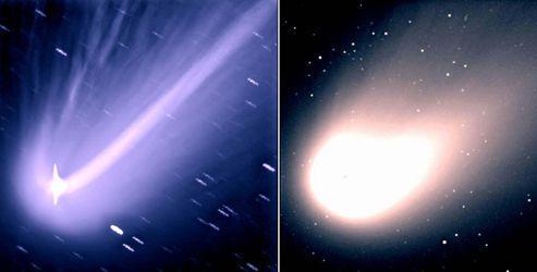 La comète Hale-Bopp, en 1997, était visible à l'œil nu dans l'hémisphère Nord.