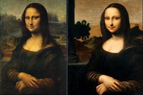 La Joconde du Louvre (à gauche) est beaucoup plus aboutie que la Monna Lisa d'Isleworth.