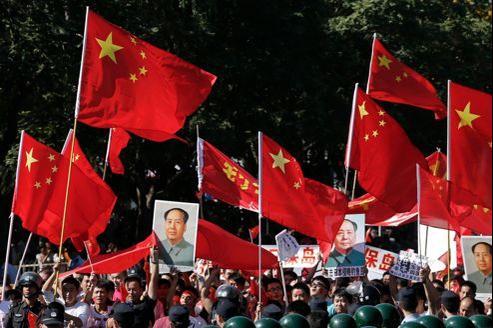 Manifestation antijaponaise, le 18 septembre, devant l'ambassade du Japon à Pékin.