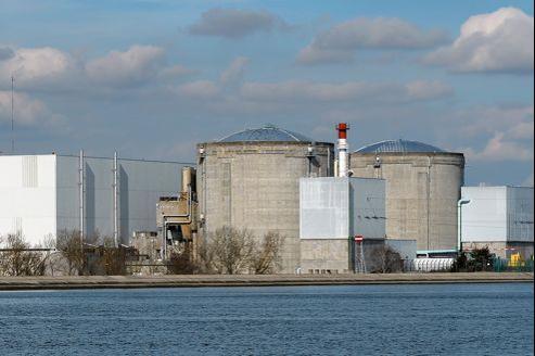La centrale nucléaire de Fessenheim, doyenne du parc d'EDF.