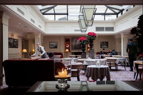 Le Café Lumière de l'hôtel Scribe, dans le IXe arrondissement parisien.