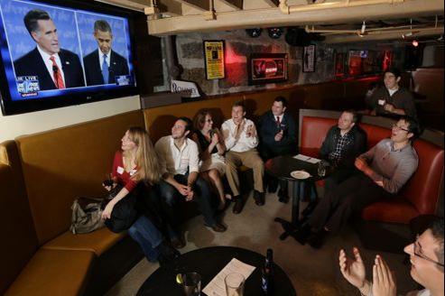 Les jeunes républicains estiment que ce débat constitue un nouveau départ pour Mitt Romney (ici, à Boston).