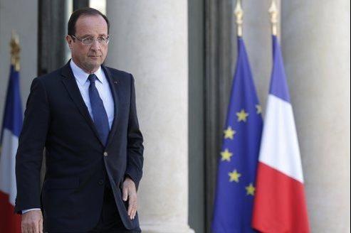 Le chef de l'État à l'Élysée, dimanche.