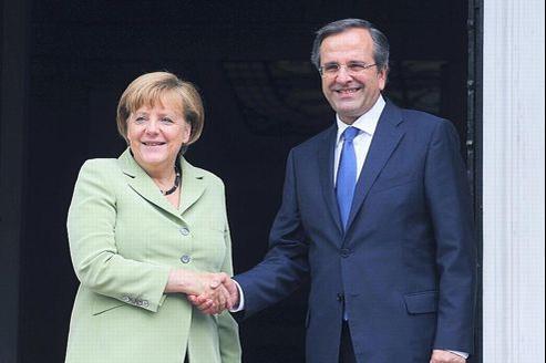 La chancelière allemande, Angela Merkel, reçue ce mardi à Athènes par le premier ministre grec, Antonis Samaras.