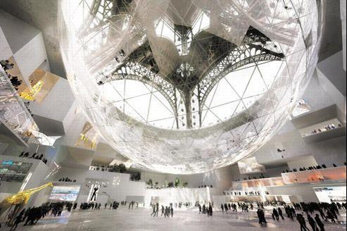 Le projet futuriste de l'Agence SEARCH transpose sous la Tour Eiffel un peu du génie de cette pyramide qui, il y a 25 ans, transformait le Louvre.