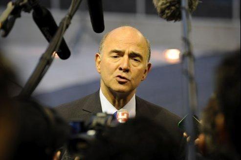 Le ministre de l'Économie et des Finances, Pierre Moscovici, lundi à Luxembourg.