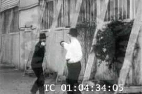 Léon Blum et Pierre Veber, lors de leur duel.