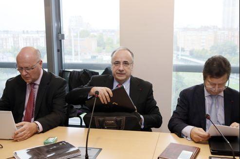 La délégation de la CSMF, premier syndicat de médecins libéraux, mercredi à l'ouverture de la séance de négociation.