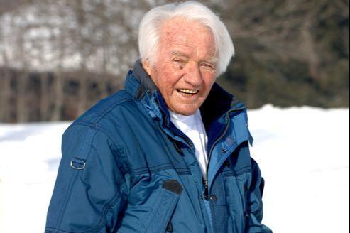 Émile Allais sur les pistes de Megève, en 2006.