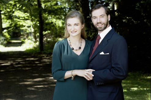 Le prince Guillaume, grand-duc héritier de Luxembourg et la comtesse Stéphanie de Lannoy.
