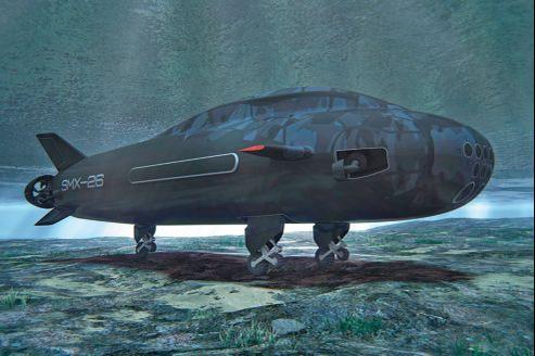 Le SMX-26, un nouveau concept de sous-marin à roues de DCNS, conçu pour s'approcher au plus près des côtes.