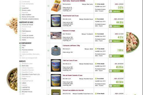 La nourriture proposée sur le site lyophilise.fr peut se stocker jusqu'à 25 ans.