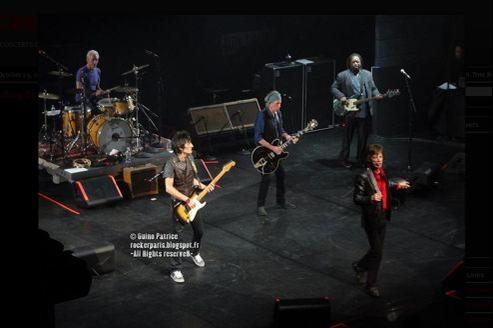 Le Rolling Stones en concert à Mogador, le 30 octobre, pour la société Carmignac. (Capture du blog Rockerparis, photo: Patrice Guino)