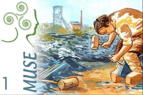Exemplaire d'un billet d'une Muse réalisée à l'aquarelle (1 muse=1 euro), monnaie qui circule à Angers depuis avril 2012. Crédits photo:www.lamuse-monnaie.fr