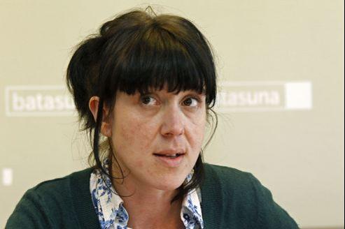 Aurore Martin à une conférence de presse de Batasuna, en mars 2012.