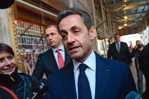 Nicolas Sarkozy à New York le 11octobre dernier. L'ancien chef de l'État était venu aux États-Unis donner une conférence à l'invitation d'une banque brésilienne.