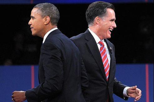 Les deux candidats lors du dernier débat de la campagne, en Floride.