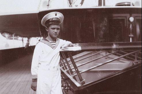 Le tsarévitch Alexis à bord du yacht impérial Standart, vers 1912. (Crédits photo: auteur anonyme, collection Romanov)