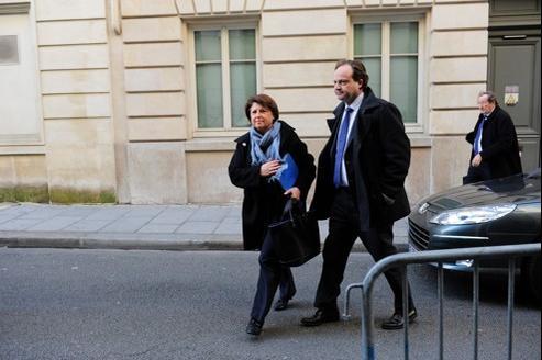 Martine Aubry, mardi à son arrivée au pôle santé du tribunal de grande instance de Paris.