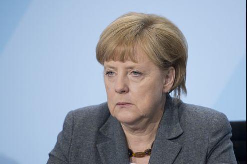 Les exportations, pilier de l'économie allemande, ont encaissé un recul de 3,4% en septembre. Ici, la chancelière Angela Merkel.