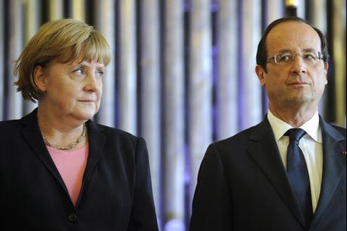 Angela Merkel et François Hollande, en juillet dernier à Reims.