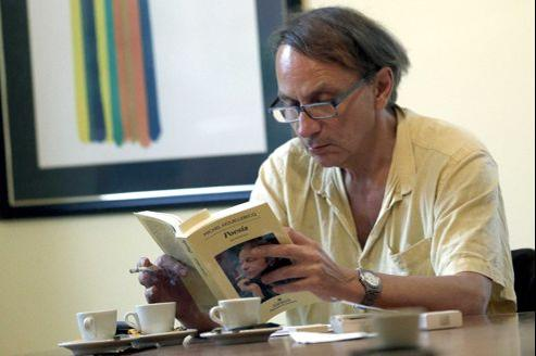 Michel Houellebecq le 19 septembre à Barcelone, où il a présenté un recueil de poésie.