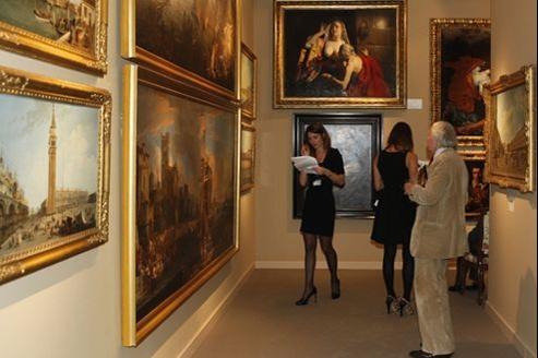 Le salon de peinture ancienne Paris Tableau au Palais de la Bourse.