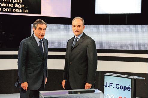 François Fillon et Jean-François Copé lors de leur débat sur France2, le 25 octobre dernier.