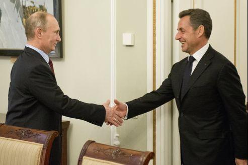 Vladimir Poutine et Nicolas Sarkozy se sont rencontrés à Moscou aujourd'hui.