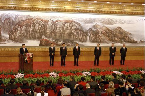 Le nouveau Comité permanent du Bureau politique du Parti communiste chinois.