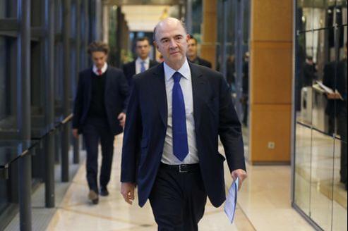 Pierre Moscovici, le ministre de l'Économie, a tenté de dédramatiser la dégradation de la note française.
