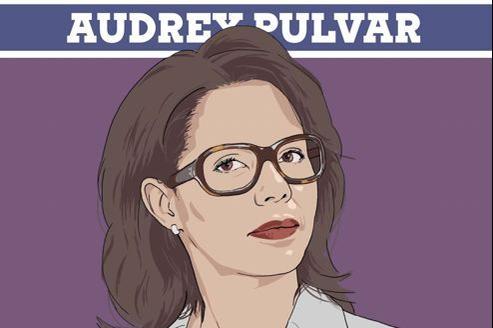 Extrait de l'illustration de la première page de l'interview d'Audrey Pulvar donnée au magazine GQ daté de décembre 2012.