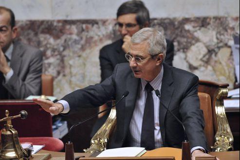 Claude Bartolone au perchoir de l'Assemblée nationale