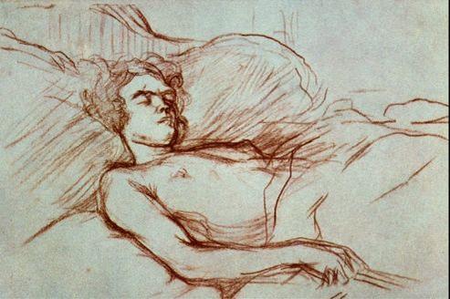 Femme endormie, par Henri de Toulouse-Lautrec.