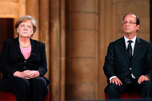 La chanceliere allemande et le président de la République française le 8 juillet dernier à Reims.